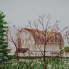 Barn Lithograph by ArtLuver
