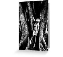 Becoming one with the earth and its creations... Greeting Card