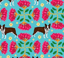 Boston Terrier Pattern by poweranimals