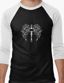 White Cross Design Men's Baseball ¾ T-Shirt