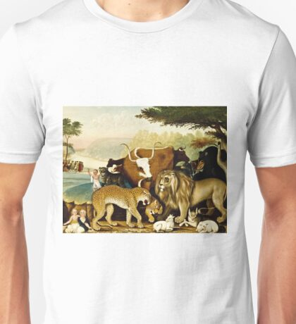 Edward Hicks - The Peaceable Kingdom  Unisex T-Shirt