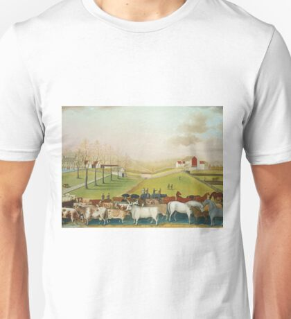Edward Hicks - The Cornell Farm1848 Unisex T-Shirt