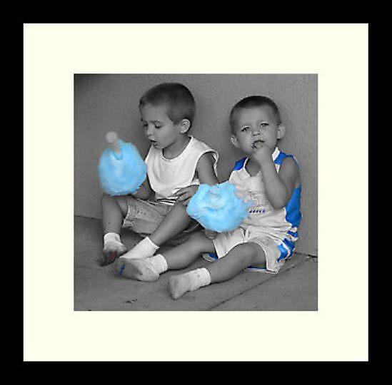 Framed medium Little Boys Blue by Michael Reimann