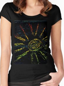 Colorful Strokes 2 Women's Fitted Scoop T-Shirt