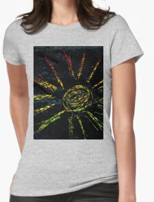 Colorful Strokes 2 Womens Fitted T-Shirt