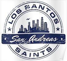 Los Santos City_Blue Poster