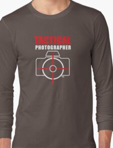 Tactical Photographer Logo - Version 2 Long Sleeve T-Shirt