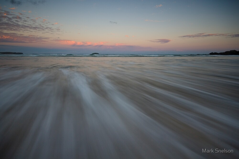 Serenity Beach at Dusk 7 by Mark Snelson