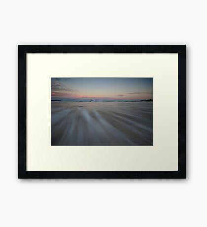 Serenity Beach at Dusk 7 Framed Print