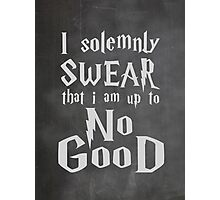 I Solemnly Swear... Harry Potter Marauders Quote Photographic Print