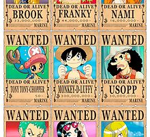 One Piece - Wanted Posters by 57MEDIA