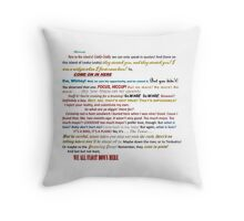 Quotes Galore Throw Pillow