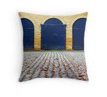 Cobbled stableyard Throw Pillow