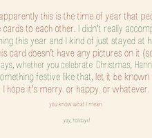 Awkward holidays! by thatonecellist