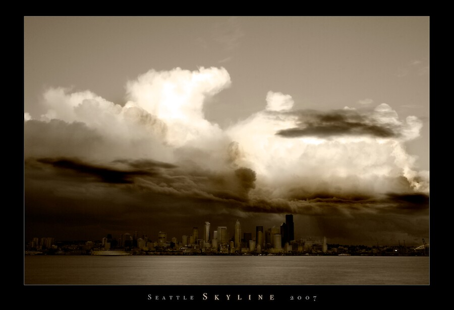 Seattle Skyline 2007. by psychedelicmind