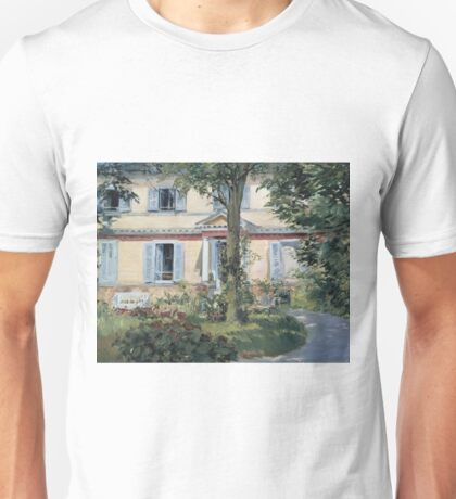 Edouard Manet - The House At Rueil 1882 Unisex T-Shirt