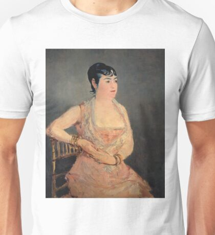 Edouard Manet - Lady In Pink 1879 - 1881 Unisex T-Shirt