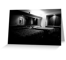 Sleeping Single with Two Double Beds Greeting Card