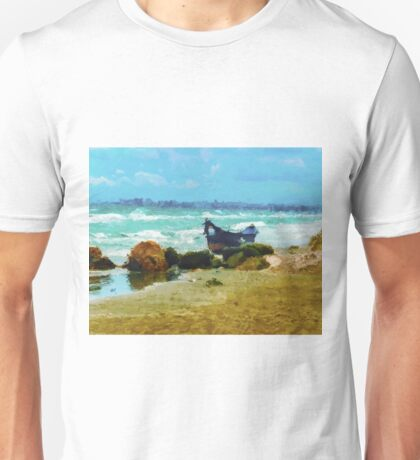 Old boat on the Black Sea Unisex T-Shirt