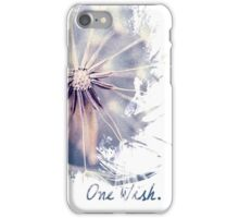 Dandelion Blue Graphic - Vertical iPhone Case/Skin
