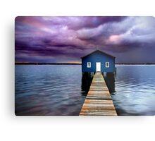 Blue Boathouse 2 Metal Print