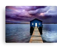 Blue Boathouse 2 Canvas Print