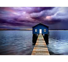 Blue Boathouse 2 Photographic Print