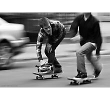 Skate Shoot - Street Scene, New York City Photographic Print