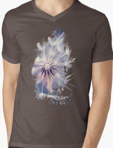 Dandelion Blue Graphic - Vertical Mens V-Neck T-Shirt
