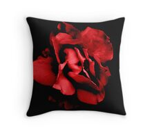 A Dark Rose She Is... Throw Pillow