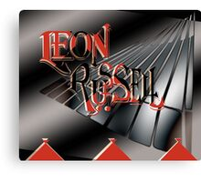 Leon Russell Art Logo by L. R. Emerson II Canvas Print