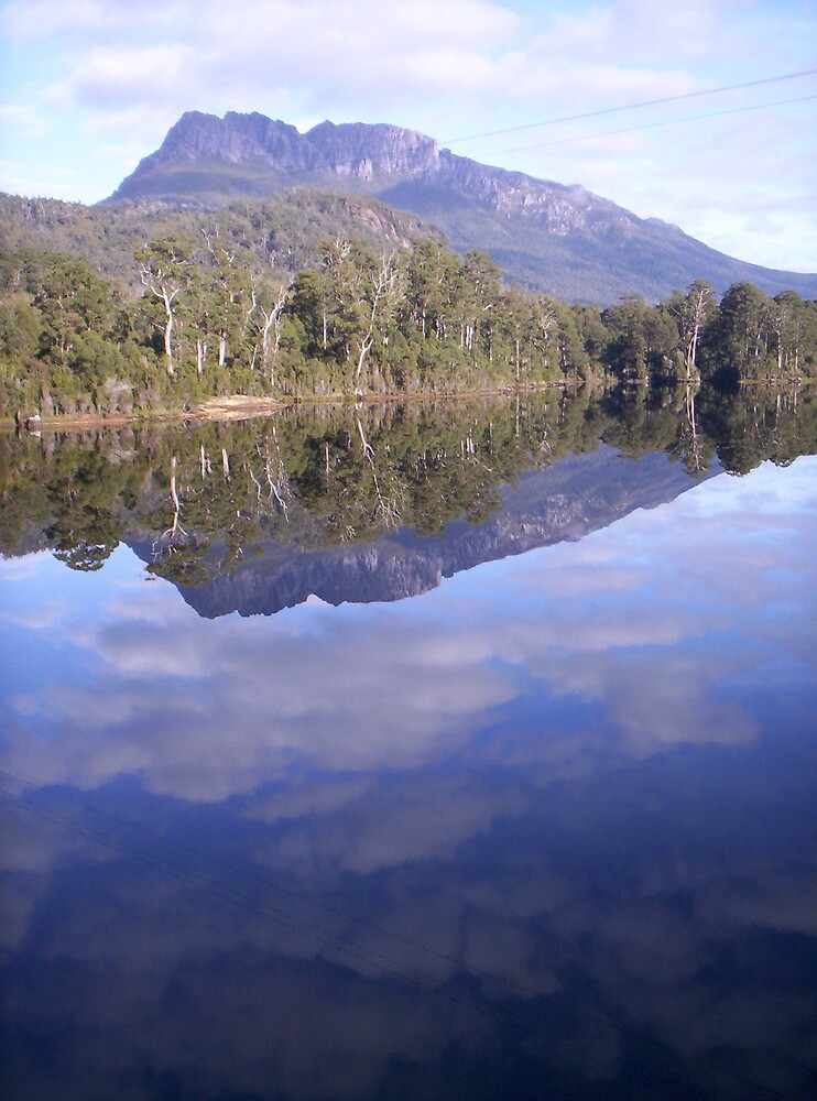 Mt Murchison from Lake Rosebery, at Tullah, WILD west coast of Tasmania by gaylene