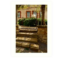 Villa Entrance Art Print