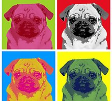 Pop Art Pug by kathleenlegakis
