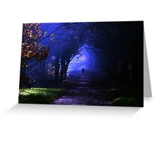 Into the shadows Greeting Card
