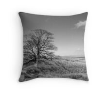 Bleak Moorland Throw Pillow