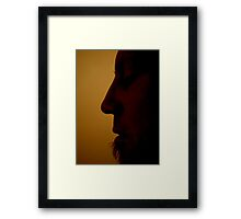 His Profile Framed Print