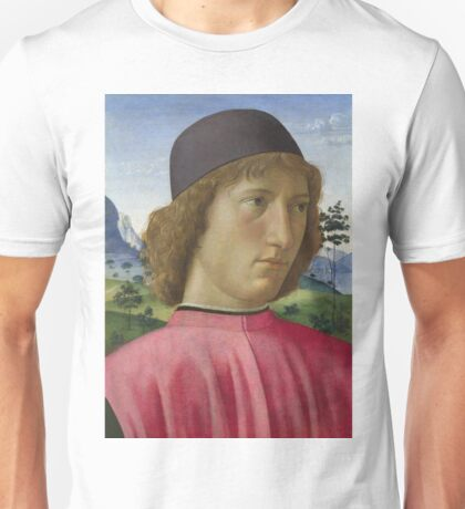 Domenico Ghirlandaio - Portrait Of A Young Man In Red Unisex T-Shirt