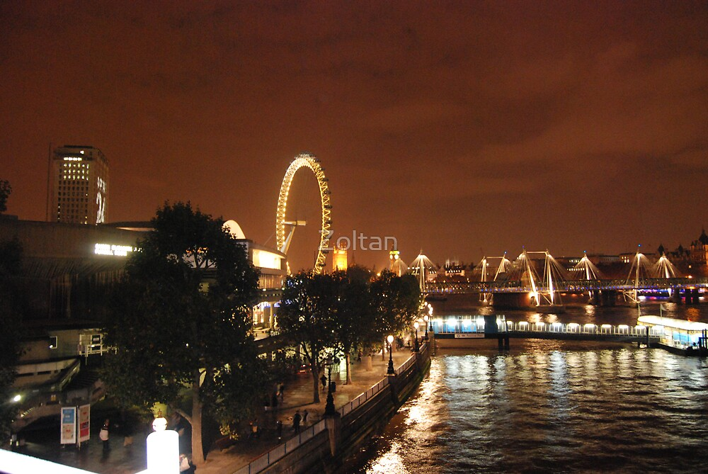 London at Night by Zoltan