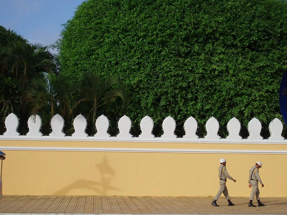 Cambodian Sentries by liqwidrok