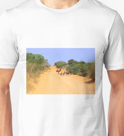 Emus on the track Unisex T-Shirt
