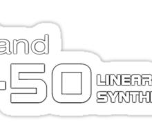 Roland D50 White Sticker