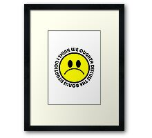 I think we oughta discuss the bonus situation Framed Print