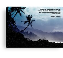 Hunter S. Thompson: Happier Man Canvas Print