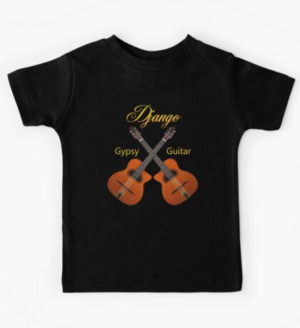 Django Gypsy Guitar  Kids Tee