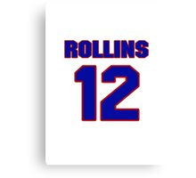 Basketball player Phil Rollins jersey 12 Canvas Print
