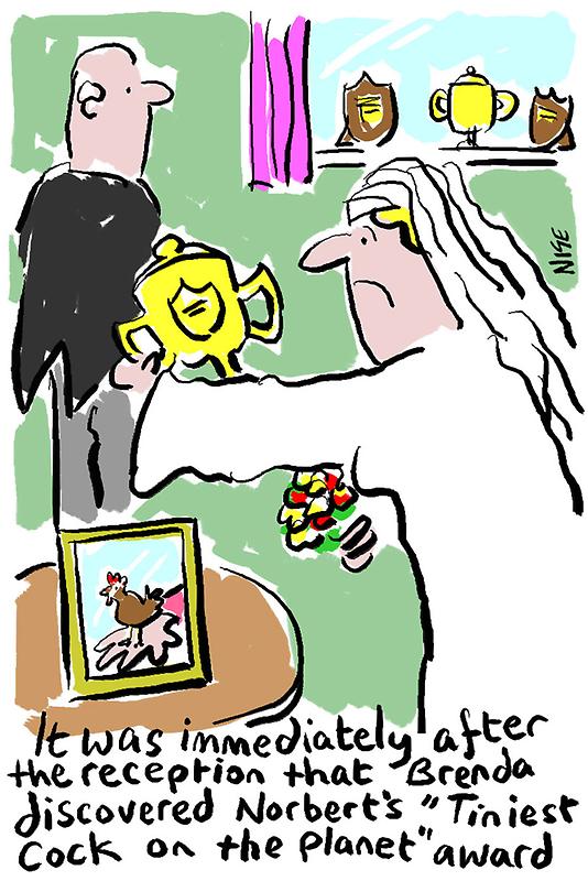 Cartoon - Tiniest Cock on Planet Award. by NigelSutherland