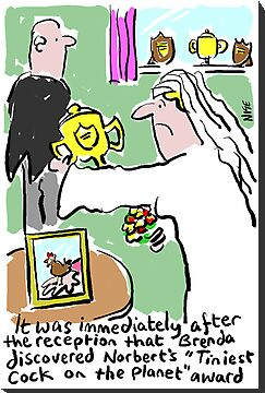 Cartoon - Tiniest Cock on Planet Award. by NigelSutherland