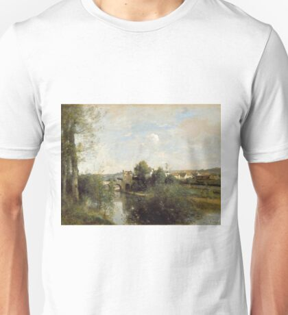 Camille Corot - Seine And Old Bridge At Limay Unisex T-Shirt