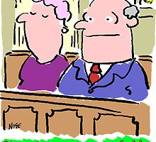 Cartoon - Man in congregation at church suppresses urge to shout rude words. by NigelSutherland